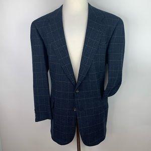 Vtg Hart Schaffner Marx 46L Sport Coat Blazer Wool